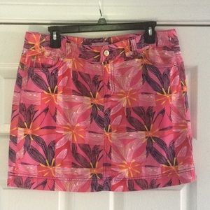 Lilly Pulitzer zip up skirt